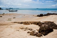 Sand beach of thailand. Royalty Free Stock Image