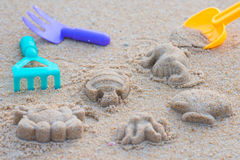 Sand beach toy set for kids Stock Image