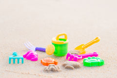 Sand beach toy set for kids Stock Photo