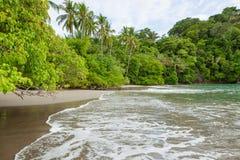 Beach Manuel Antonio Costa Rica. Sand beach and trees at Manuel Antonio Costa Rica stock photo