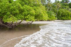 Beach Manuel Antonio Costa Rica stock photo