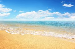 Sand beach and tropical sea royalty free stock images