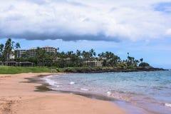Sand beach at Wailea in Maui, Hawaii Stock Photography