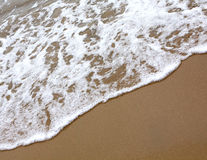 Sand beach water background Royalty Free Stock Images