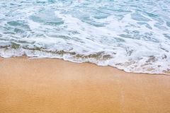 Sand beach water background Stock Image