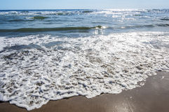 Sand beach water background Stock Photo