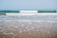 Sand beach water background Stock Photography
