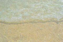 Sand beach and wave , Andaman sea Royalty Free Stock Image