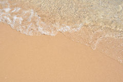 Sand beach and wave Royalty Free Stock Images