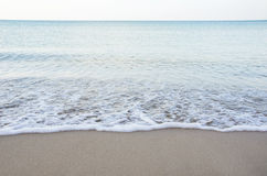 Sand beach with wave Stock Photography
