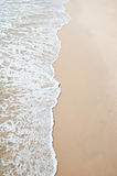 Sand beach and wave sea Royalty Free Stock Images