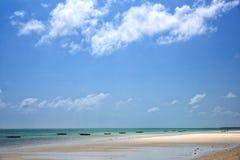 Sand beach in Zanzibar Royalty Free Stock Photography