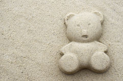 Sand bear Royalty Free Stock Photo