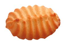 Sand biscuit isolated. On white background royalty free stock photos