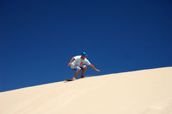 Sand boarding Stock Photos