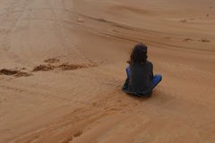 Sand Boarding  Royalty Free Stock Images