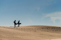 Sand boarding Royalty Free Stock Photography