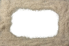 Sand Border. A sand border around a blank white center Stock Image