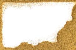 Sand border Stock Photography