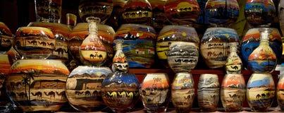 Sand bottle souvenir from Dubai. Sand Bottle Desert Safari art at Dubai Mall Stock Photography