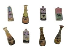Sand bottle souvenir from Egypt. Souvenir bottles with sand is typical gift from the Middle East and North African countries Stock Image