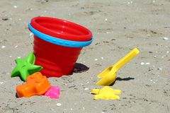 Sand box toys Royalty Free Stock Images