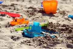 Sand box toys Stock Photo