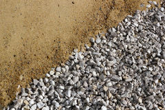 Sand and broken stone diagonal background Royalty Free Stock Photography