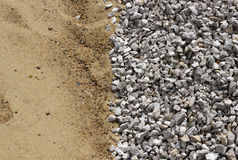 Sand and broken stone vertical background Stock Images