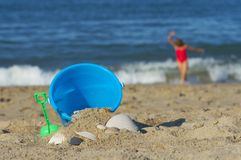 Sand Bucket Royalty Free Stock Image
