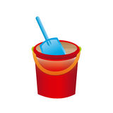 Sand bucket. Over white background vector illustration Royalty Free Stock Images