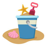 Sand bucket and shovel  Royalty Free Stock Image