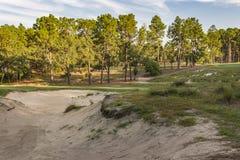 Sand bunker Arkivbild