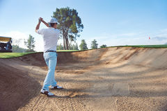 Sand bunker shot Royalty Free Stock Photos