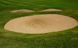 Sand bunkers Royalty Free Stock Images