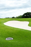 Sand bunkers on the golf course Royalty Free Stock Photo