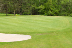 Sand bunkers on the golf course Stock Images