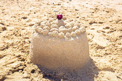 Sand cake Royalty Free Stock Images