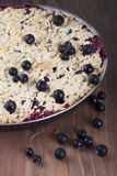 Sand cake with black currant Stock Photography