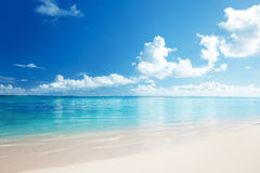 Sand and Caribbean sea Royalty Free Stock Photos