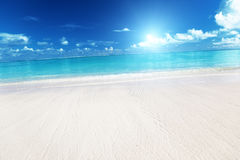 Sand and Caribbean sea Royalty Free Stock Photo