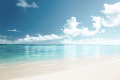 Sand and Caribbean sea Stock Photography