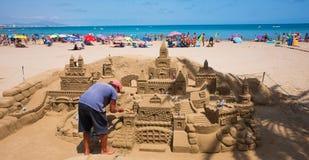 Sand Castel in Peniscola, Spanien Stockbilder