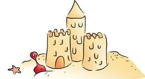 Sand Castle. Illustrator drawing of a sand castle royalty free illustration