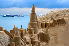 Sand castle  Stock Photos