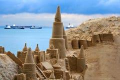 Sand castle. A Narnia Sand Castle found on East Coast Beach at Singapore Stock Photos