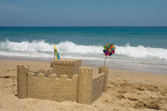Sand Castle. In the beach Royalty Free Stock Photography