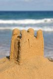 Sand castle 2. Sand castle by the sea Royalty Free Stock Images