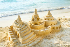 Sand Castle. On the Beach Royalty Free Stock Photo