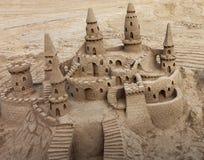 Sand Castle. A beautiful sand castle on a beach Stock Photo